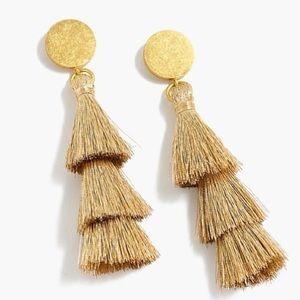 NWOT J.Crew Gold Tassel Earrings